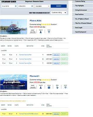Use an iFrame to show our liveaboard search results on your website