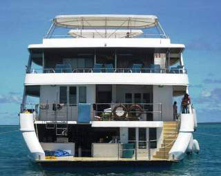 A rear view of the MV Amba in the Maldives - photo courtesy of Enrico
