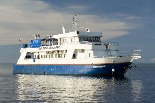 The Malaysia liveaboard, the Celebes Explorer, in Sipadan