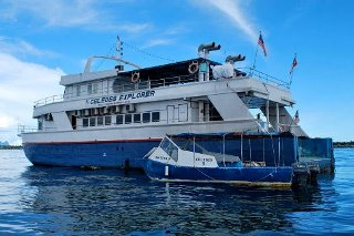 The view of Borneo's MV Celebes Explorer