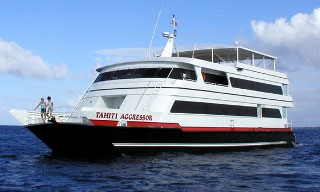 The Fiji Aggressor II liveaboard diving vessel