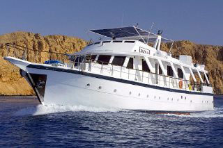 MY Ghazala I cruising the Red Sea from Sharm El Sheikh