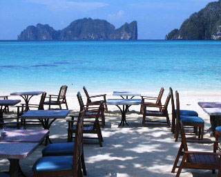 The exquisite Bayview restaurant on Phi Phi Don Island