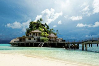 The Misool Eco Resort, for land-based diving in Raja Ampat, Indonesia