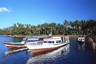 Sulawesi dive resort boats - photo courtesy of Onong Resort