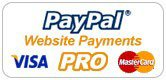 Take advantage of our secure online credit card payment facility, Paypal Payments Pro. This new, premier facility offers much more than the standard Paypal payment facility. Benefits include no personal Paypal account required, no limits on transaction amounts and integrated Verisign security system. Secure payments are now easier for you. See our Terms for more details
