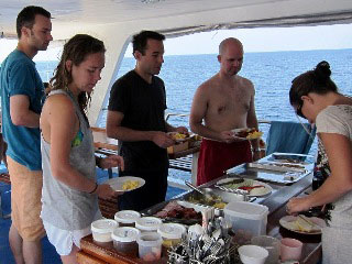 Breakfast time in the Similan Islands on Peterpan