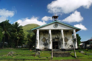 The only Church remaining in the Banda Islands. Legend has it that the clock stopped at the exact time the Japanese invaded during World War II - photo courtesy of Stefan