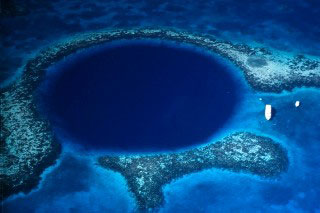 No-one knows more about holes better than Tiger Woods and this is one of his favourites: The Blue Hole, Belize