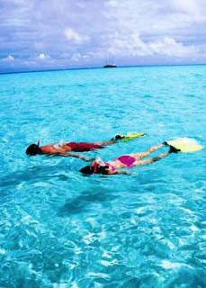 Snorkelling the Koro Sea - photo courtesy of Tui Tai