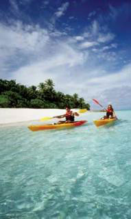 You can kayak the coast line of Vanua Levu - photo courtesy of Fiji Visitors Bureau