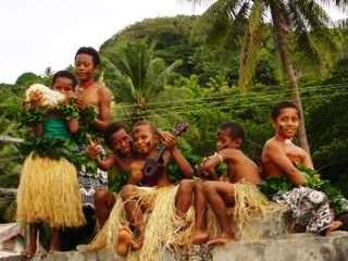 A land excursion to visit a Fijian village - photo courtesy of Gavin Macaulay