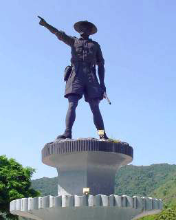 Statue of Nani Wartabone - local Sulawesi freedom fighter from the 1940s