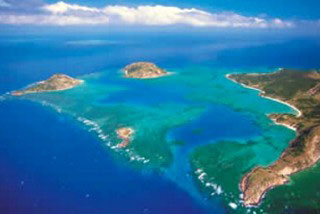 Flying over Lizard Island makes for a great aerial shot