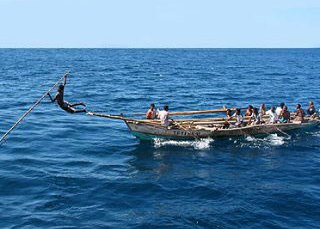 Traditional fishing methods in Indonesia