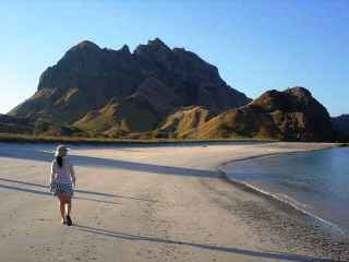 A land excursion near Komodo Island