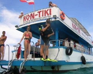 Day trip diving from Ao Nang Beach with Kontiki