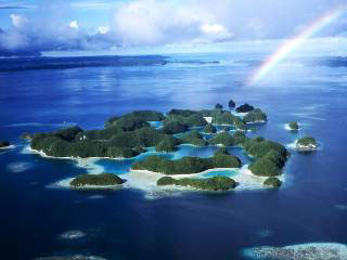 Some of the tropical Pacific islands of Palau