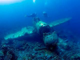 World War II wreck diving at Peleliu, Palau, Micronesia