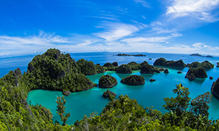 The incredible topside scenery of Raja Ampat