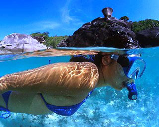 Snorkelling in the Similan Islands - photo coutesy of Marcel Widmer - www.seasidepix.com