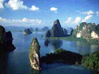 The alluring Phang Nga Bay, between Phuket and Krabi in Thailand