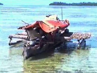 Bajau fishing boat, Tomini Bay
