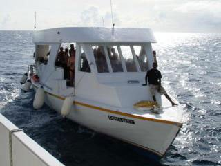 The dive dhoni, used by the Princess Haleema for diving the Maldives - photo courtesy of Daniel Galt