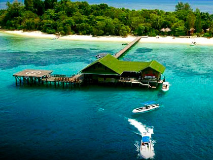 More details on this dive resort option for Lankayan Island