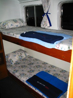 One of the Scuba Adventure's twin bunk cabins - photo courtesy of Victoria Rolinson