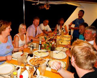 Dining onboard Sheena, Maldive Islands liveaboard