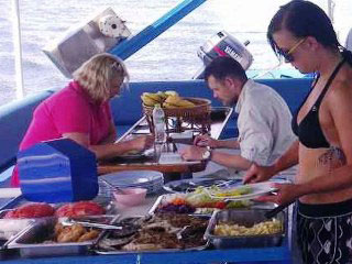 Lunch time onboard the Similan Explorer liveaboard