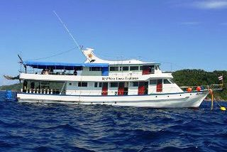 The West Coast Explorer moored at the Similan Islands