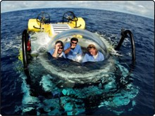 The Argo's DeepSee Submersible in Cocos, Costa Rica