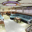 M/Y Emperor Asmaa's spacious, open plan saloon