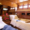 Galapagos Aggressor III Deluxe twin bed stateroom