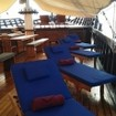Relaxations space on the deck of the Indonesia liveaboard, MSV Amira