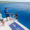 Cayman Aggressor V has a large swim/dive platform