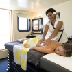 Ease your diving aches and strains with a soothing on board massage