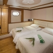 Lower deck twin or double bed cabin