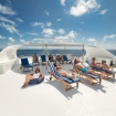 Soak up the Maldives sun on loungers and bean bags
