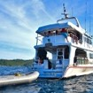Thailand liveaboard MV Manta Queen 6 and dinghy from the stern