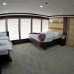Upper deck cabin with double and single bed