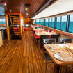 Dining aboard the Ecoventura Galapagos cruise liveaboard