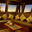 Chiill out in the saloon on your Komodo liveaboard trip