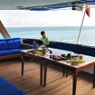 Chilling out on the deck of Galapagos Aggressor III
