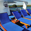 Sun seekers will gravitate to the upper deck of the Galapagos Aggressor III