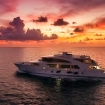 The sun sets on this Maldives dive cruise