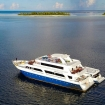 MV Emperor Leo cruising the atolls