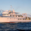 Another view of the Cocos diving cruise boat, MV Argo